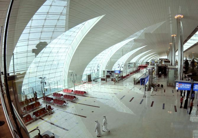 A general view of the departure gates and duty free area at the new Emirates' terminal (Terminal 3) in Dubai International Airport.