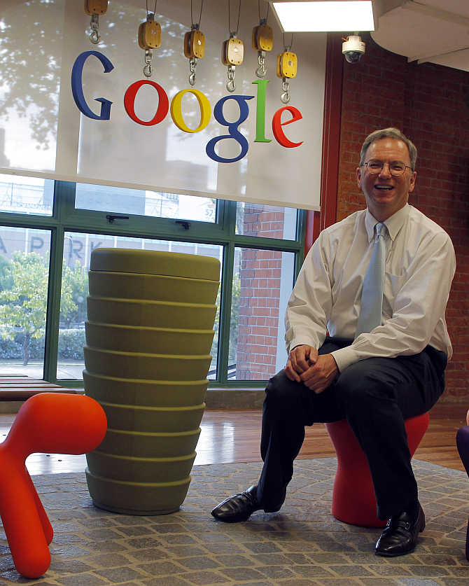 Google Chief Executive Officer Eric Schmidt at Google's headquarters in Buenos Aires, Argentina.
