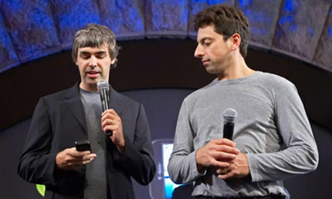 Google founders Larry Page and Sergey Brin.