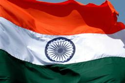 The Indian flag