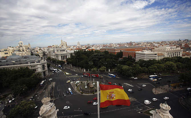 A view of Madrid, Spain.