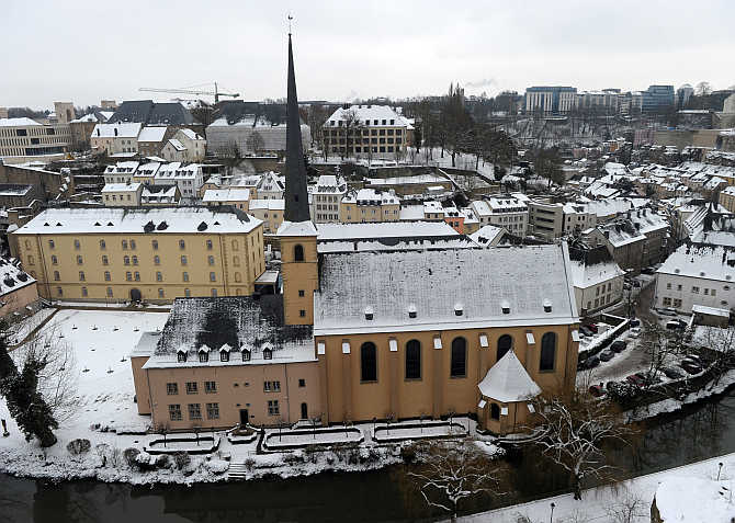 A view of city of Luxembourg, Luxembourg.