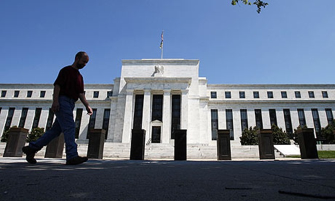 US Federal Reserve building in Washington DC.