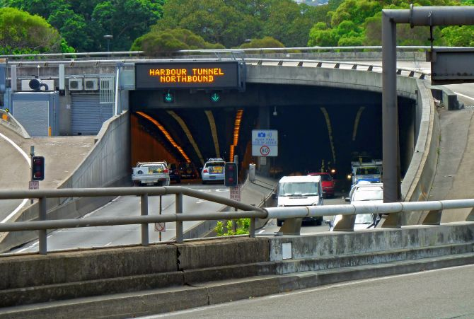 Sydney Harbour Tunnel.