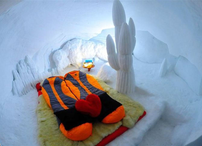 Guest accommodation at the Igloo Village.