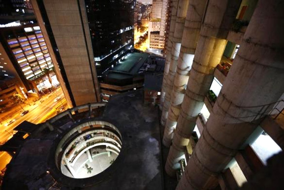 A view of the lobby from the top of the Tower of David skyscraper.