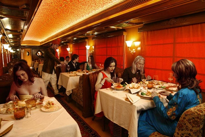 Pantry car in Maharaja