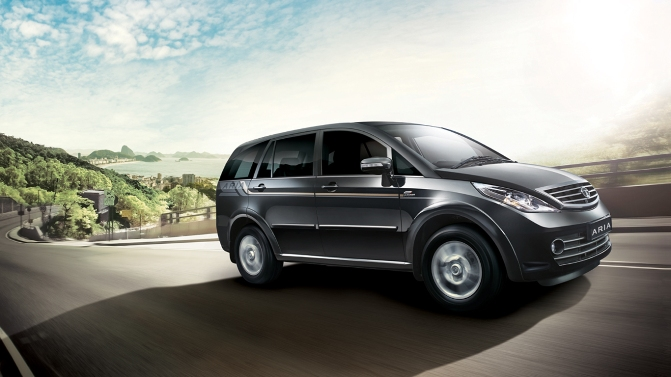 The new Tata Aria.