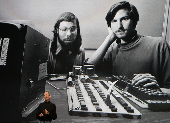 Steve Jobs at an Apple Special Event at Yerba Buena Center for the Arts.