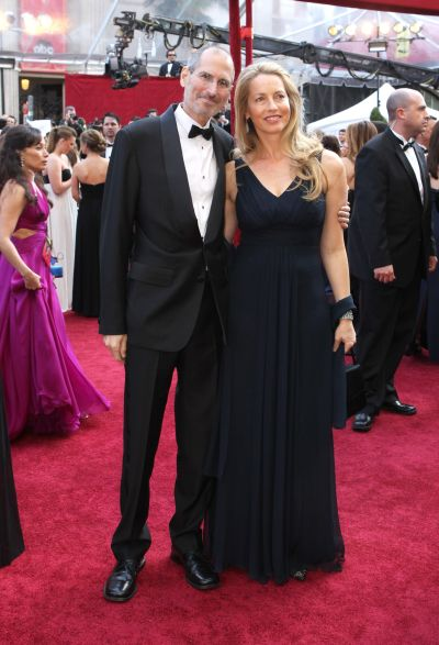 Steve Jobs and Laurene Powell at the 82nd Annual Academy Awards.