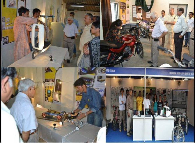 Different projects on display at the 2014 Open House, IIT Delhi.