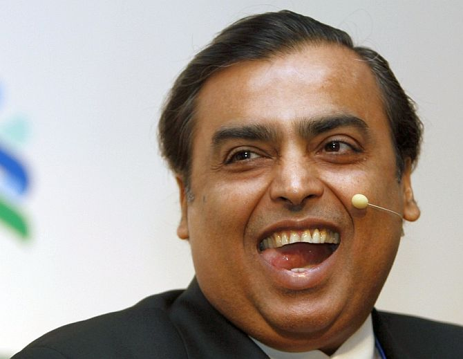 Mukesh Ambani, Chairman and Managing Director of Reliance Industries,