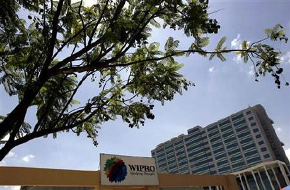 The Wipro campus is seen in Bengaluru.