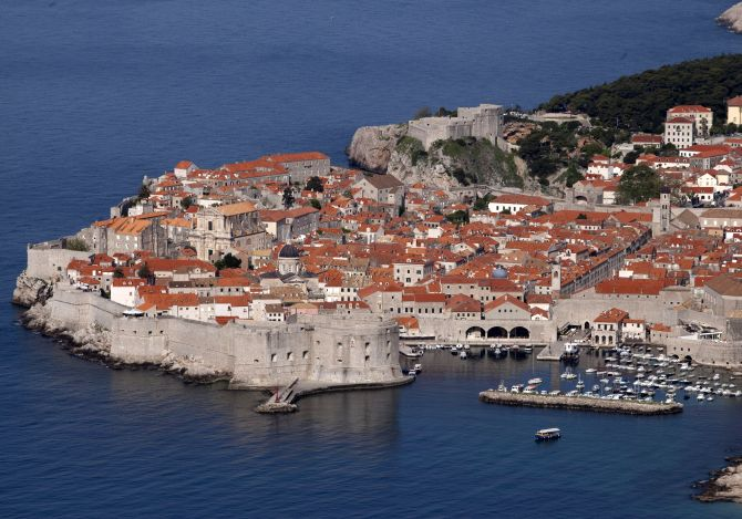 A view shows Croatia's UNESCO protected medieval town of Dubrovnik.