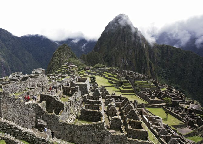 A general view of Machu Picchu ruins.