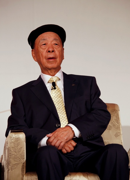 Galaxy Entertainment Group Chairman Lui Che-Woo listens to a question during a news conference.
