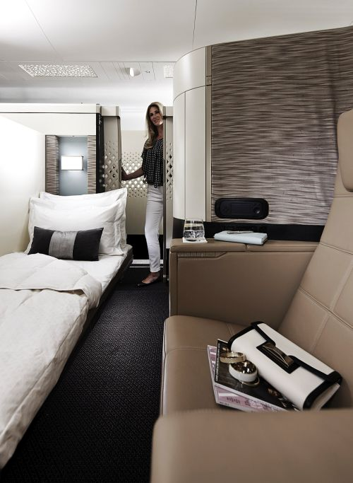 Lounge of the newly launched Etihad's ultra luxurious plane.