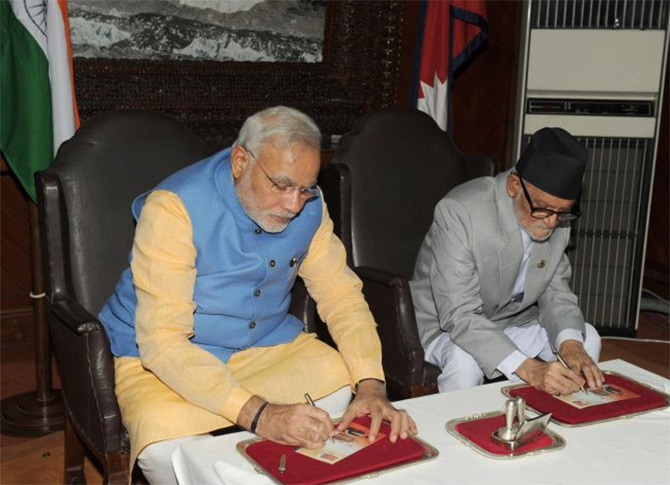 Three agreements were signed between India and Nepal.