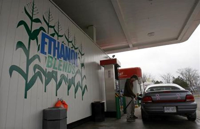 BJP-led government is moving forward to achieve its target of a 20 per cent ethanol-petrol blend by 2017 in a phased manner.
