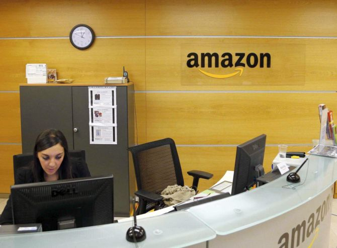 View of the reception of Amazon Europe Holding Technologies in Luxembourg.