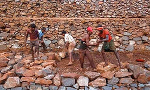 Iron ore miners in Karnataka. Photograph: Danish Siddiqui/Reuters