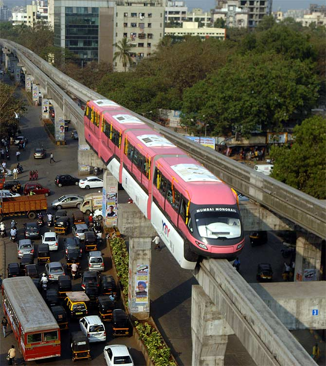 Monorail service in Mumbai.