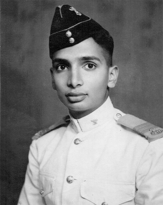 Professor Paulraj as a young Indian Navy cadet. He retired as a Commodore and then traveled to Stanford University at age 48 to begin another glorious career in invention and science.