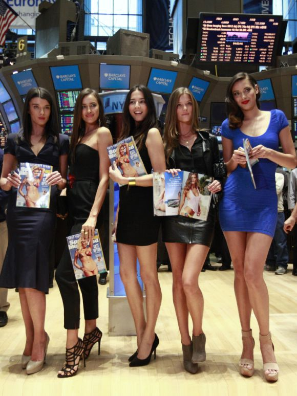 Swimsuit Models Visit New York Stock Exchange Rediff Com
