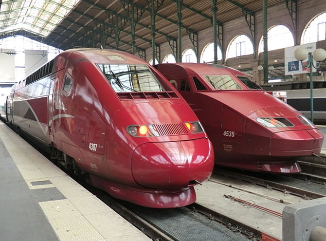 Thalys Alstom train.