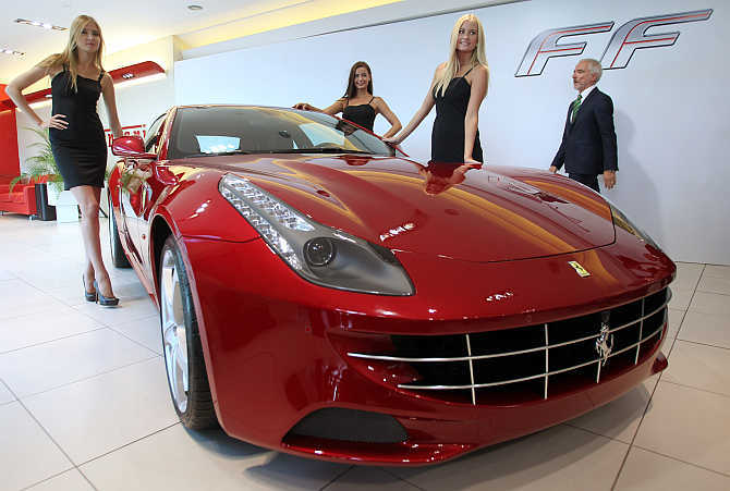 Ferrari makes a comeback in India