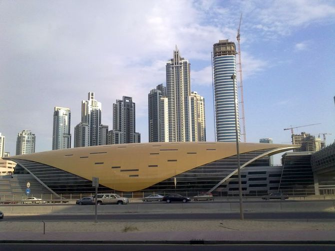 Dubai metro station Type 1 at Business Bay.