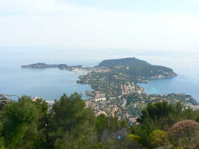 A view of Cap Ferrat from Plateau St Michel, France.