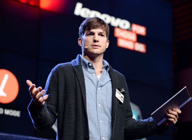 Actor Ashton Kutcher named Lenovo product engineer and launches Yoga Tablet at YouTube Space.