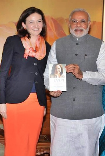 Facebook Chief Operating Officer Sheryl Sandberg meets Prime Minister Narendra Modi.
