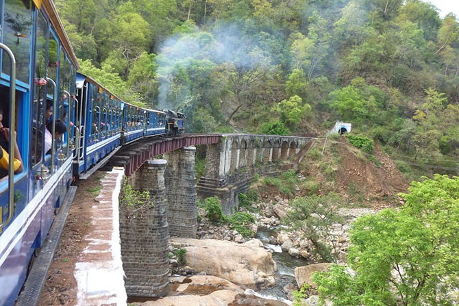 Metupalayam Ooty Nilgiri Passenger train, India's slowest train, which runs at a speed of 10 kmph