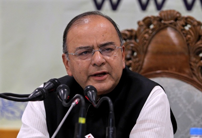 Finance minister Arun Jaitely