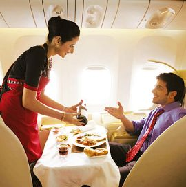 inflight services in air india flights