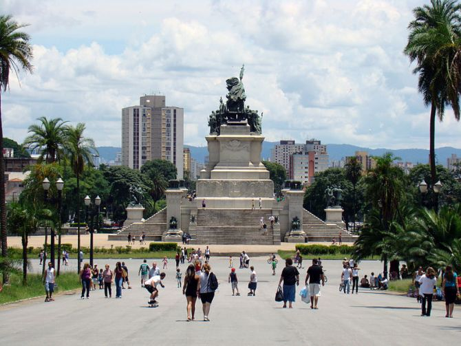 Monument of Independence in Sao Paulo.