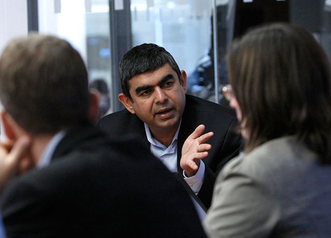 Sikka said, Infosys would look at integrating the existing solutions it has while at the same time building newer solutions along with clients.