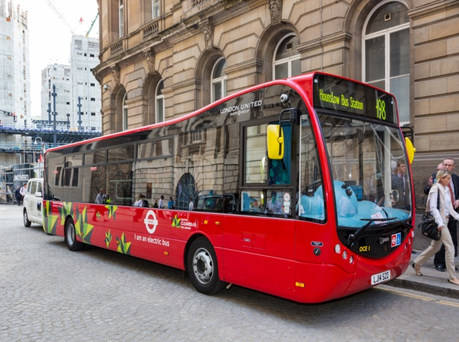 Optare Bus built by Hinduja Group in London.