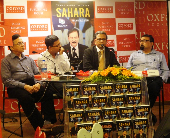 From left: Pratip Kar, Aniek Paul, Tamal Bandyopadhyay and Roopen Roy at the book launch at Kolkata's Oxford Bookstore on June 12.