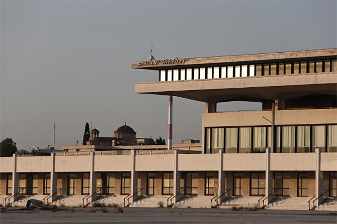 A view of the east terminal of the former Athens International airport, Hellenikon.