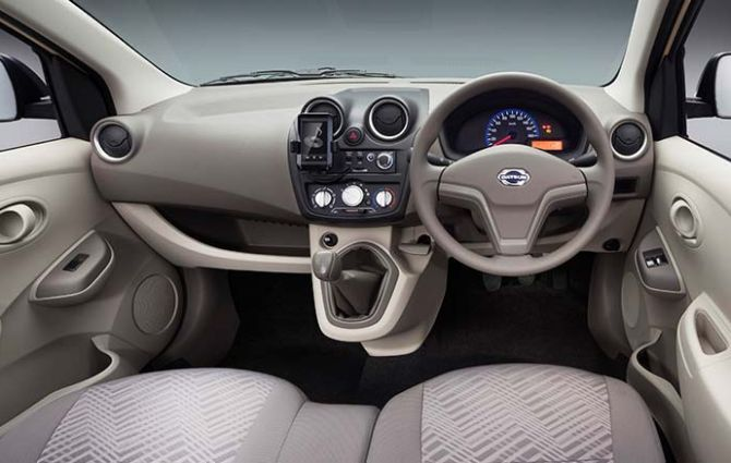 interior of Datsun Go+