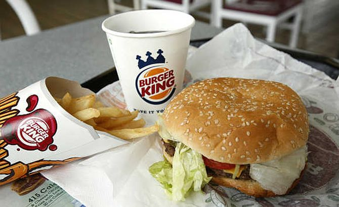 Value meal offered by Burger King  Restaurant