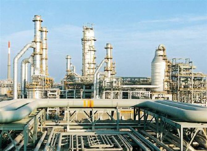 RIL complex petrochemical refinery in Jamnagar,Gujrat