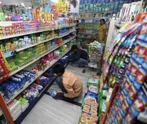 HUL products on display in a hyper-market