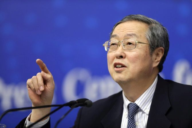 China's central bank governor Zhou Xiaochuan