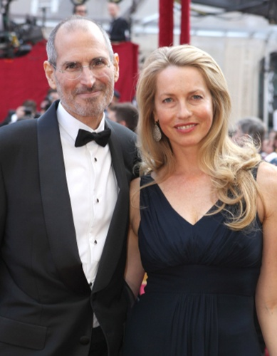 Steve Job and Laurene Powell Jobs