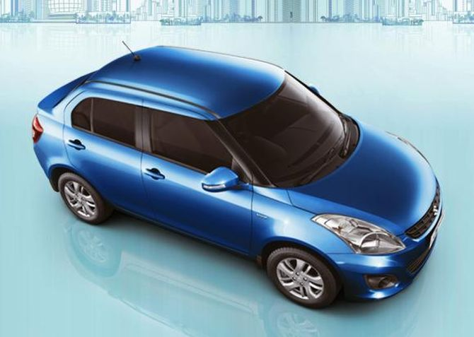 Maruti Swift Dzire.