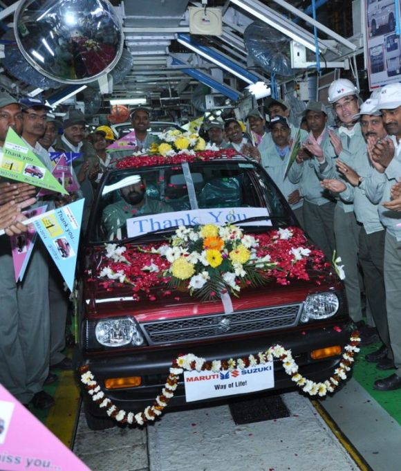 Last produced Maruti 800.